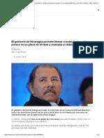 El Gobierno de Nicaragua Promete Liberar a Todos Los Opositores Presos en Un Plazo de 90 Días y Reanudar El Diálogo - BBC News Mundo