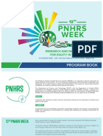 12th PNHRS Program Book as of August