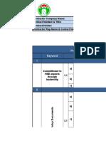 Prequalification for HSE KPI