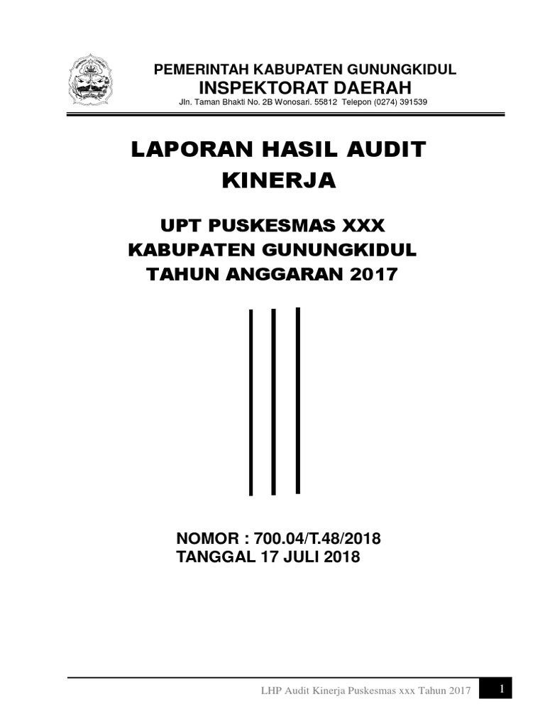 Contoh Laporan Audit Kinerja Skpd Audit Kinerja