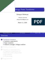 HV Transformer Construction