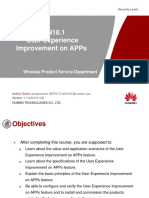 14 Training Course RAN18.1 User Experience Improvement on APPs V1.4