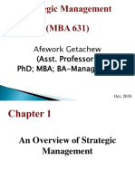 Ch 1overview of Strategic Management