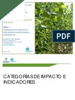 2019 Categorías de Impacto e Indicadores Short