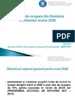 1.6 Politicile de Ocupare Din România La Orizontul Anului 2020 - Grigore
