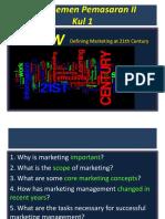 Pem 2-Kul 1-Marketing at 21th Century
