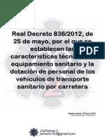 113 Rd 836 2012 Vehiculos Sanitarios