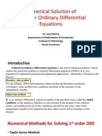 Numerical Solution of ODE
