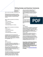 General Training Writing Sample Candidate Responses and Examiner Comments