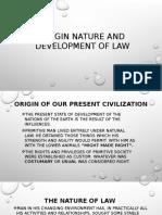 Origin Nature and Development Law