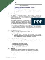 Estructura de Informe de Planeamiento, Programación y Control de Una Obra Rev
