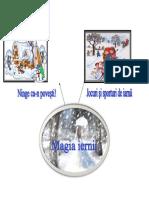Harta proiect  tematic - magia iernii