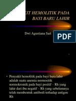 PENYAKIT HEMOLITIK PADA BAYI BARU LAHIR - SARI.ppt