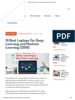 10 Best Laptops for Deep Learning & Machine Learning (2019)