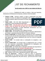 Check List de Fechamento Da Folha de Pagamento No ESocial