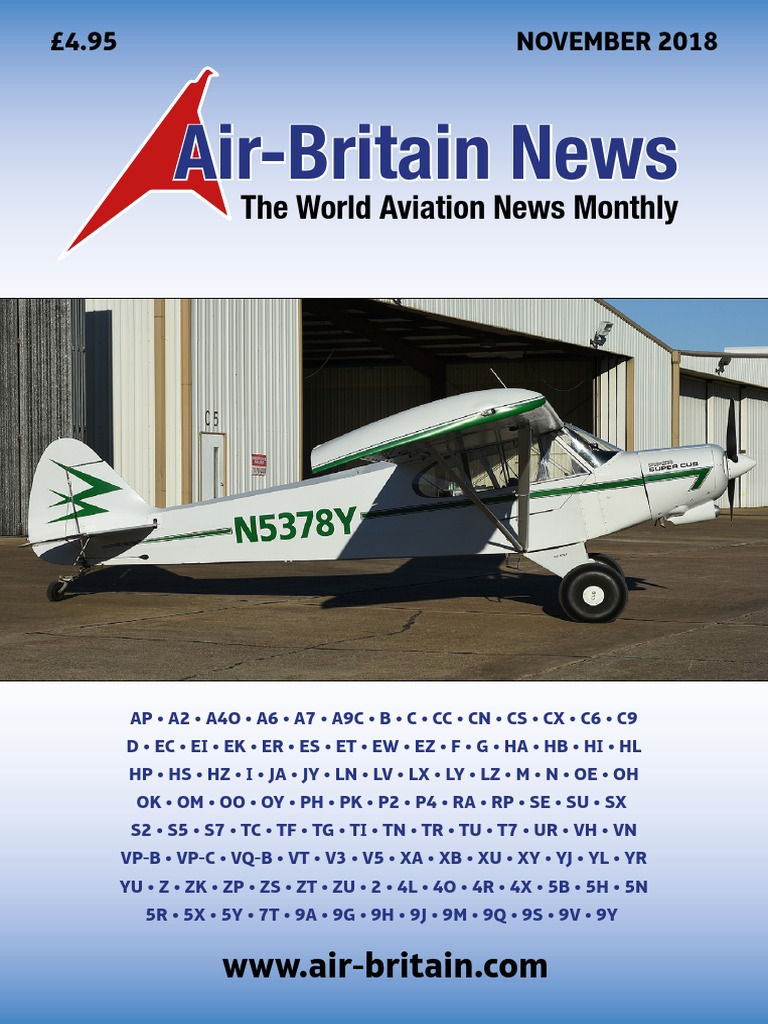Air Britain Magazine-November 2018 pdf | Aircraft | Transport Companies