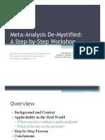 AEA 2011 Session 733 - Meta-Analysis de-Mystified-1