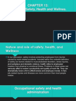 Chapter 13 - Employee Safety, Health and Wellnes