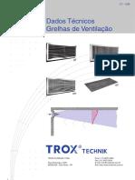 Dados Técnicos Grelhas para climatização