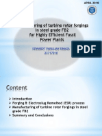 Manufacturing of FB2 Material for Rotor