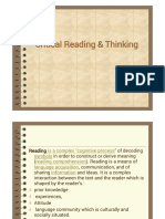 Critical Reading & Thinking(1)