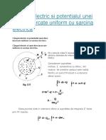 Cậmpul electric si potentialul unei sfere incarcate uniform cu sarcina electrica.docx