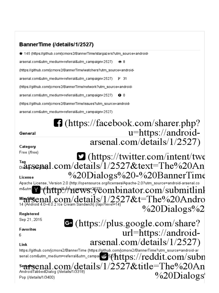 Android Interview Questions Github the android arsenal - dialogs - bannertime | android