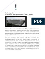 World Bank Indonesia Country Most Complex