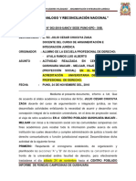 INFORME de rondas campesinas  N° 001-2018-UANCV quishuara 1