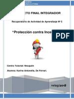 Rec. Act. N°5 ''Protección contra incendios''