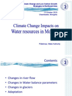Climate Change Impacts on Water Resources of Mongolia