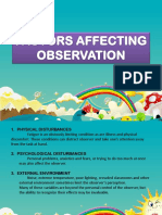 Factors Affecting Observation