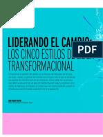 Liderando El Cambio Los Cinco Estilos de Líder Transformacional