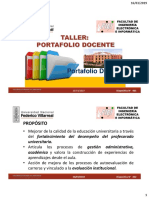 Taller Portafolio Docente 01 FIEI