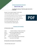 Exercises for Task 1 e. 4