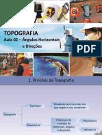 Topografia - angulos horizontais e direção