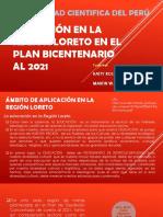 EJE ESTRATEGICO 2 LA  EDUCACION REGIONAL DE LORETO EN EL PLAN BICENTENARIO AL 2021.