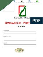 Simulado 01 - Port - 5º Ano - (Blog Do Prof. Adonis)