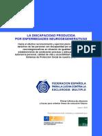 Informe Discapacidad Enfermedades Neurodegenerativas Marzo 2010