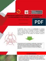 Articulacion Social e Institucional de la Gestión de Riesgo de Desastres - Ing.Orlando Chupisengo Vásquez