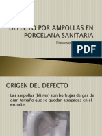 Defecto Por Ampollas en Porcelana Sanitaria