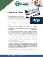 1. El Contrato de Trabajo- Elementos y Clasificacón