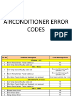 Ac Error Codes & Trouble Shooting