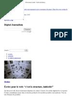 """Écrire pour le web  """"c'est la structure, imbécile!"""" » Article » OWNI, Digital Journalism"""