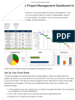 How to Create a Project Management Dashboard in Excel