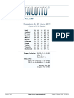 Estrazioni del Lotto Italiano di sabato 23 Marzo 2019