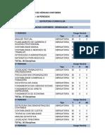 Matriz Curricular de Ciências Contábeis