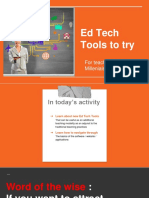 ED TECH tools to try