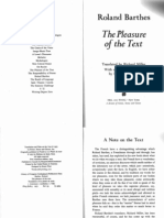 Barthes Roland - The Pleasure of the Text