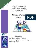 2007 GSHS Trinidad and Tobago Report
